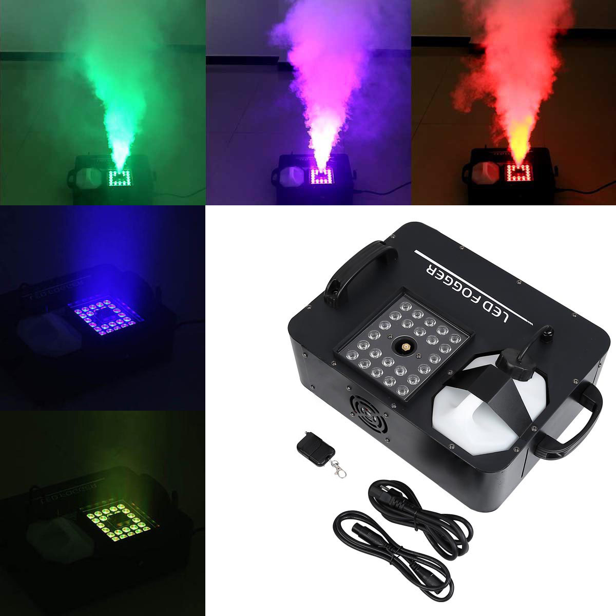 Commercial Lighting Lights & Lighting Led Fog Machine 1500w Rgb Color 3 In1 12*3w Led Lamp Led Smoke Machine Dmx 512 Controller 8 Minutes Heater