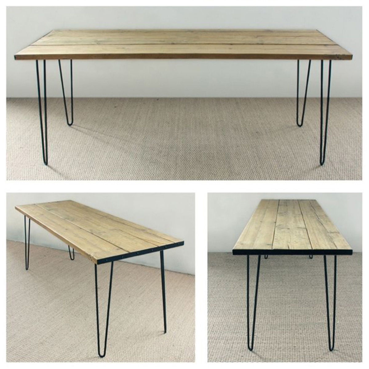 Multiple Sizes Hairpin Table Legs Set Of 4 Solid Iron