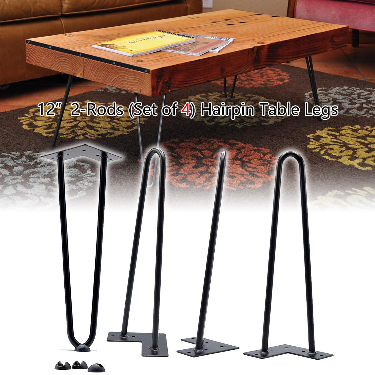 Image of: 12 Hairpin Legs Industrial Mid Century Modern Heavy Duty Solid Iron 2 Rod Us Ebay