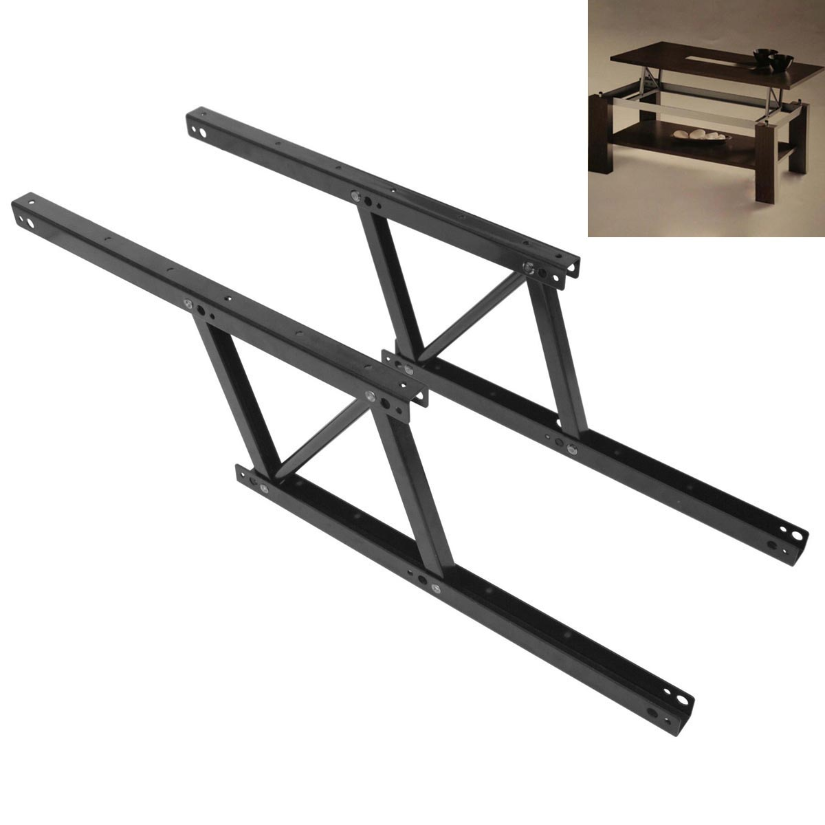 1pair top coffee table furniture mechanism lift up hardware fitting spring hinge. Black Bedroom Furniture Sets. Home Design Ideas