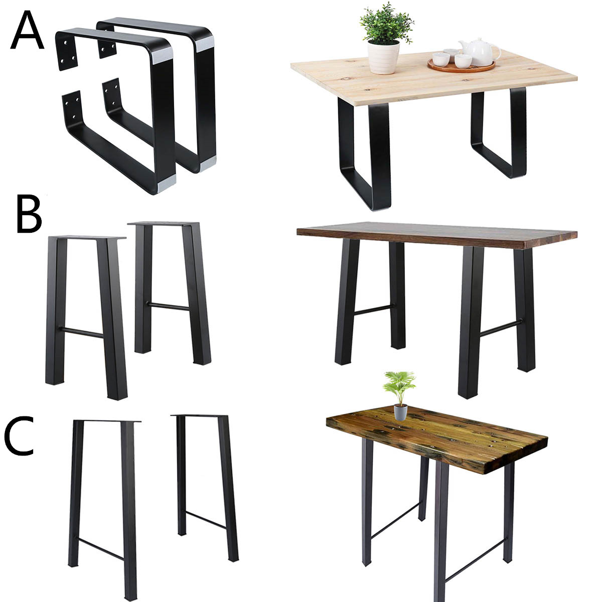 Details About Three Model Vintage Styles 16 28 Metal Bar Coffee Table Desk Legs Diy Furniture