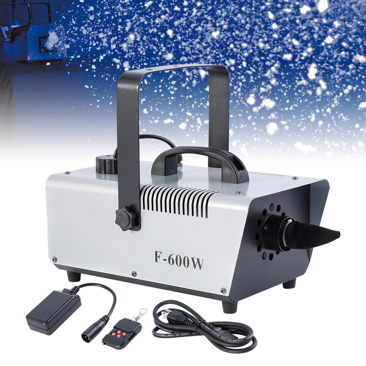 Snow Machine,600W Snowflake Maker Flake Effect Stage Show DJ Party Snow Machine Wireless Control Great Machine For Christmas Party Stage Show