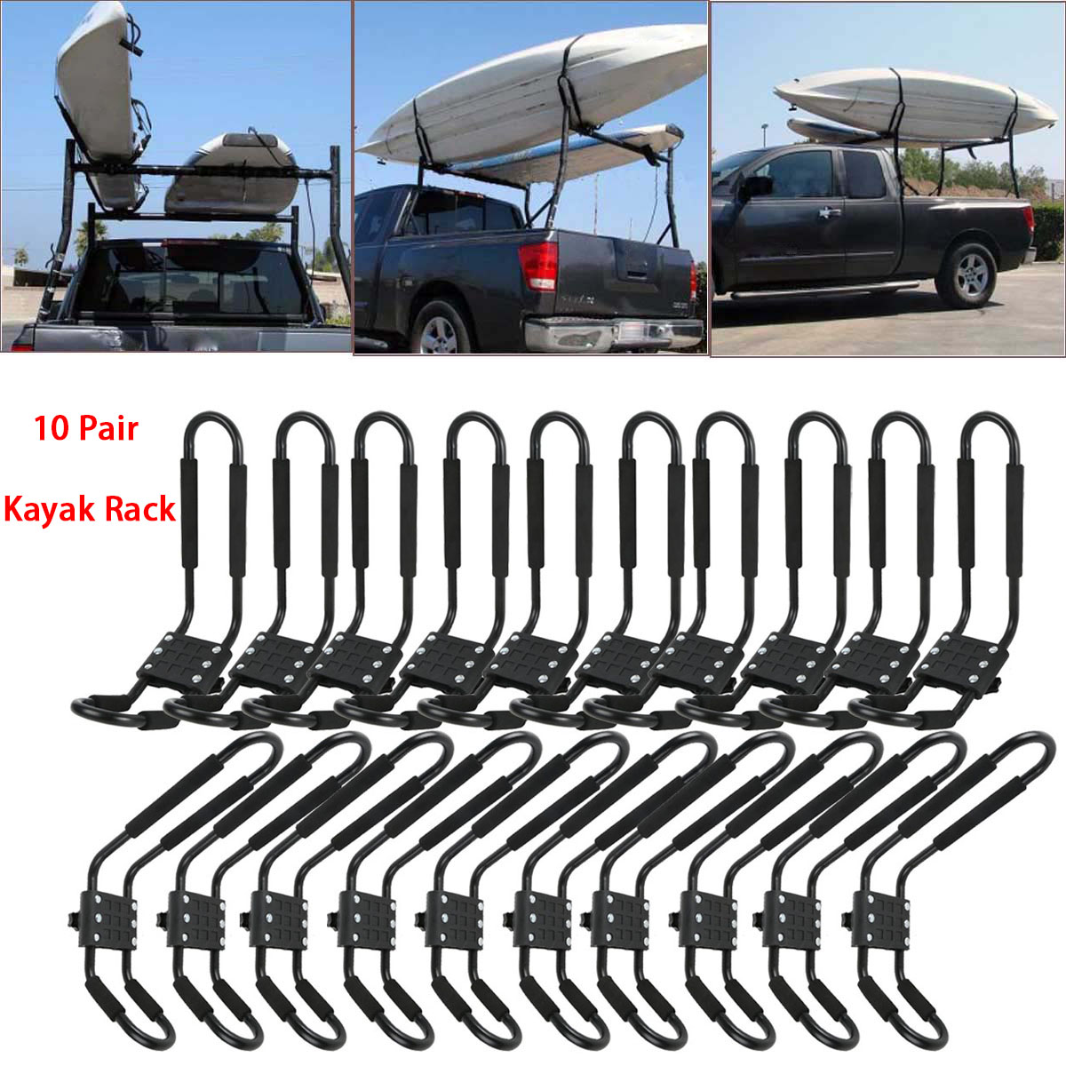 TMS J-Bar Rack HD Kayak Carrier Canoe Boat Surf Ski Roof Top Mounted on Car SUV Crossbar w//Free Cell Phone Case