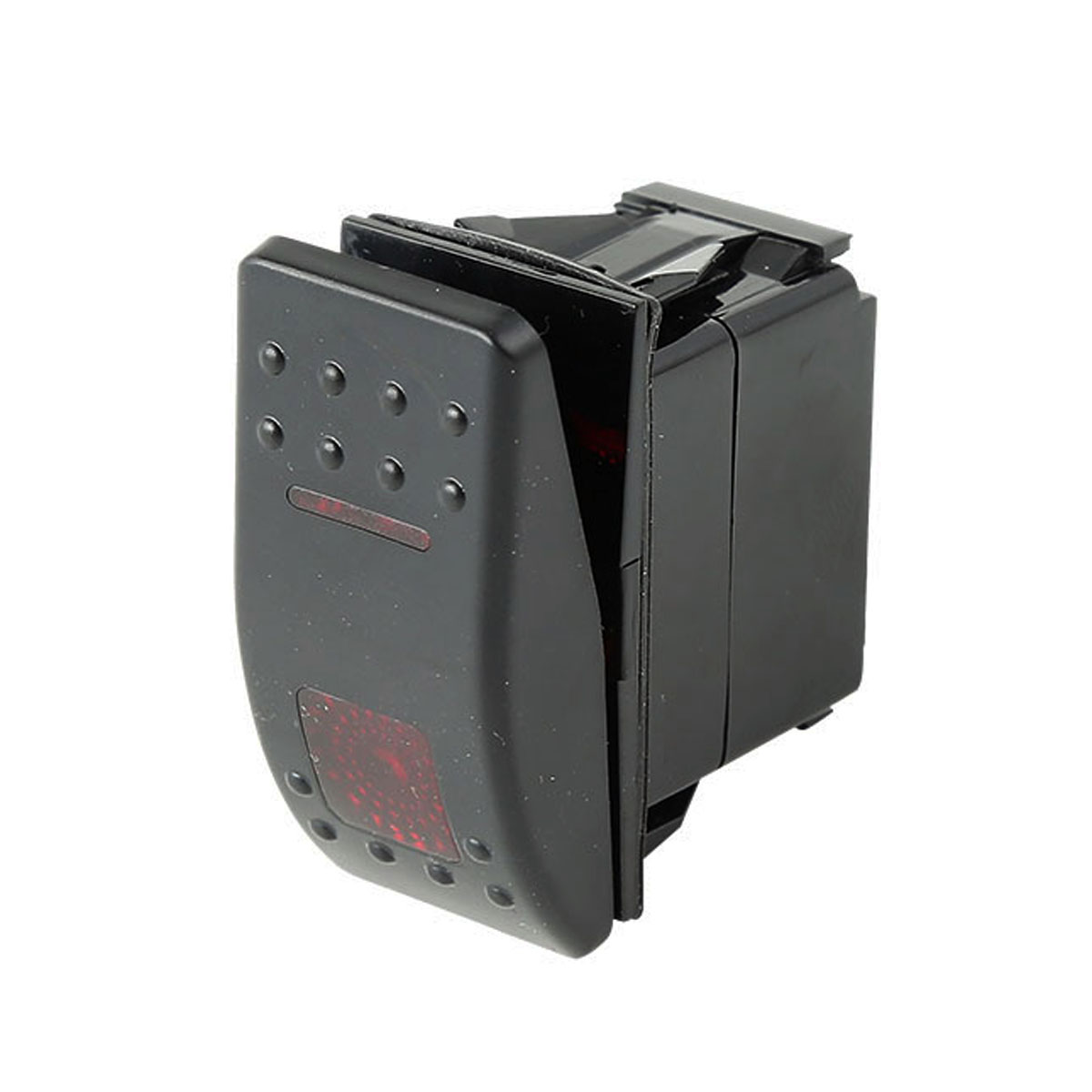 ON-OFF-ON DPDT MARINE BOAT RV ROCKER SWITCH 7 PIN 2 RED