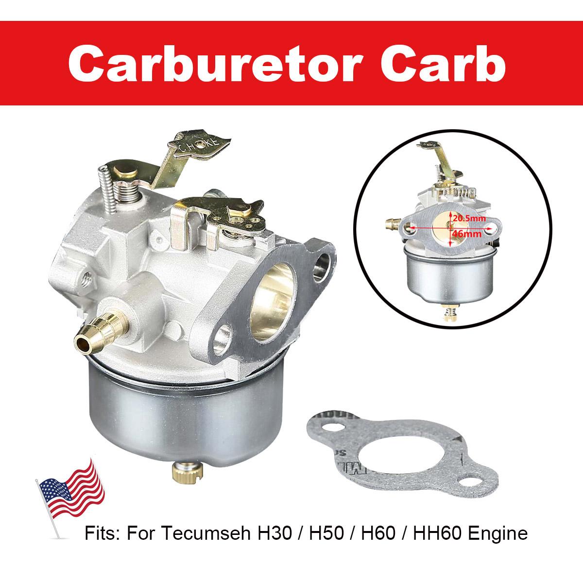Replaces Tecumseh 632230 H60 HH60 Carburetor fits TECUMSEH H50