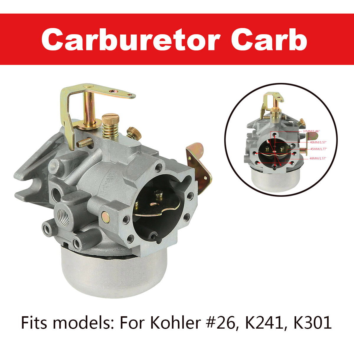 Carburetor For Kohler K241 K301 10HP 12HP Cast Iron Engines Carb Cub Cadet